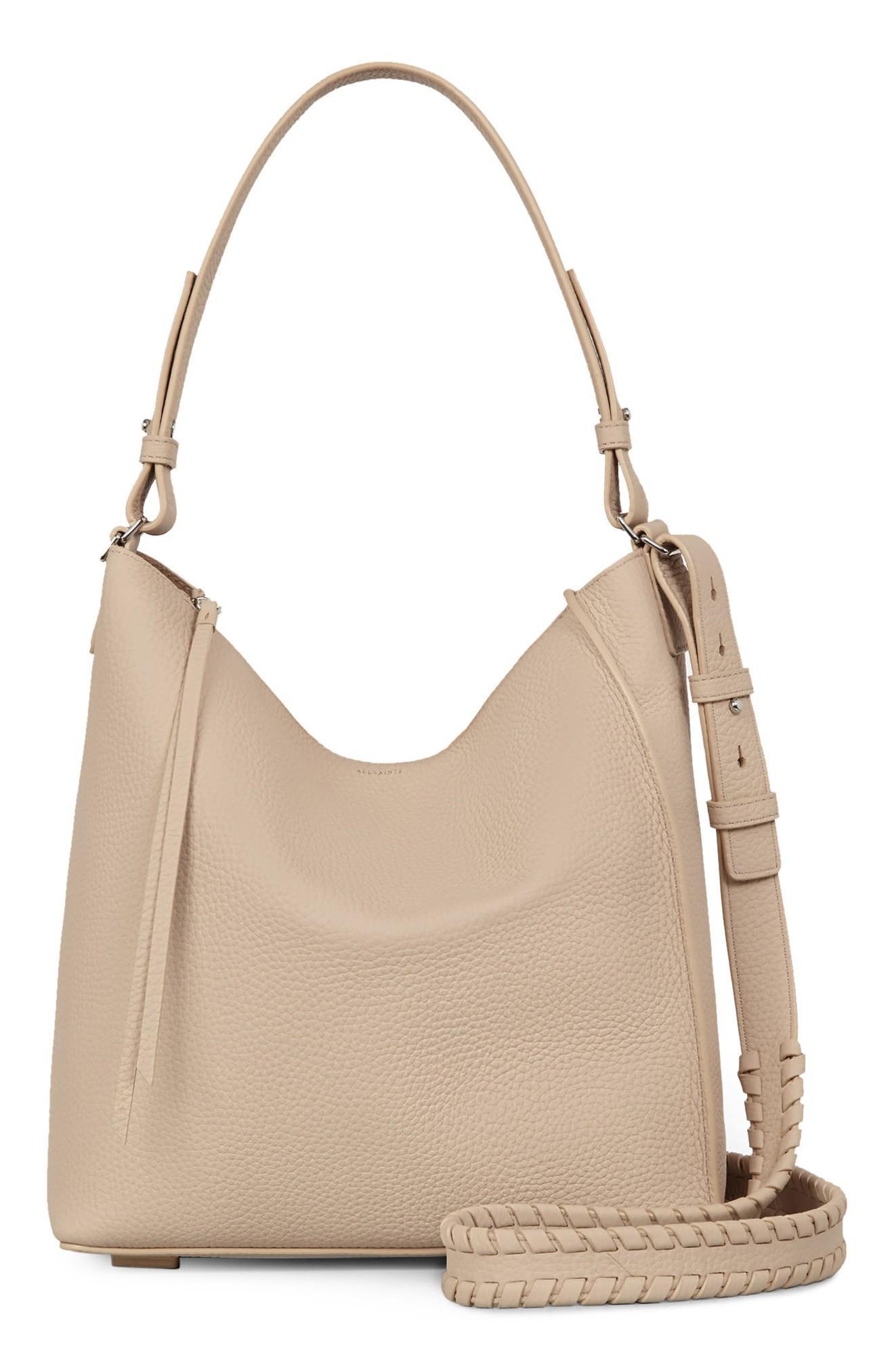 0017cfbcd845c4 Allsaints 'Kita' Leather Shoulder/Crossbody Bag - Beige In Natural ...