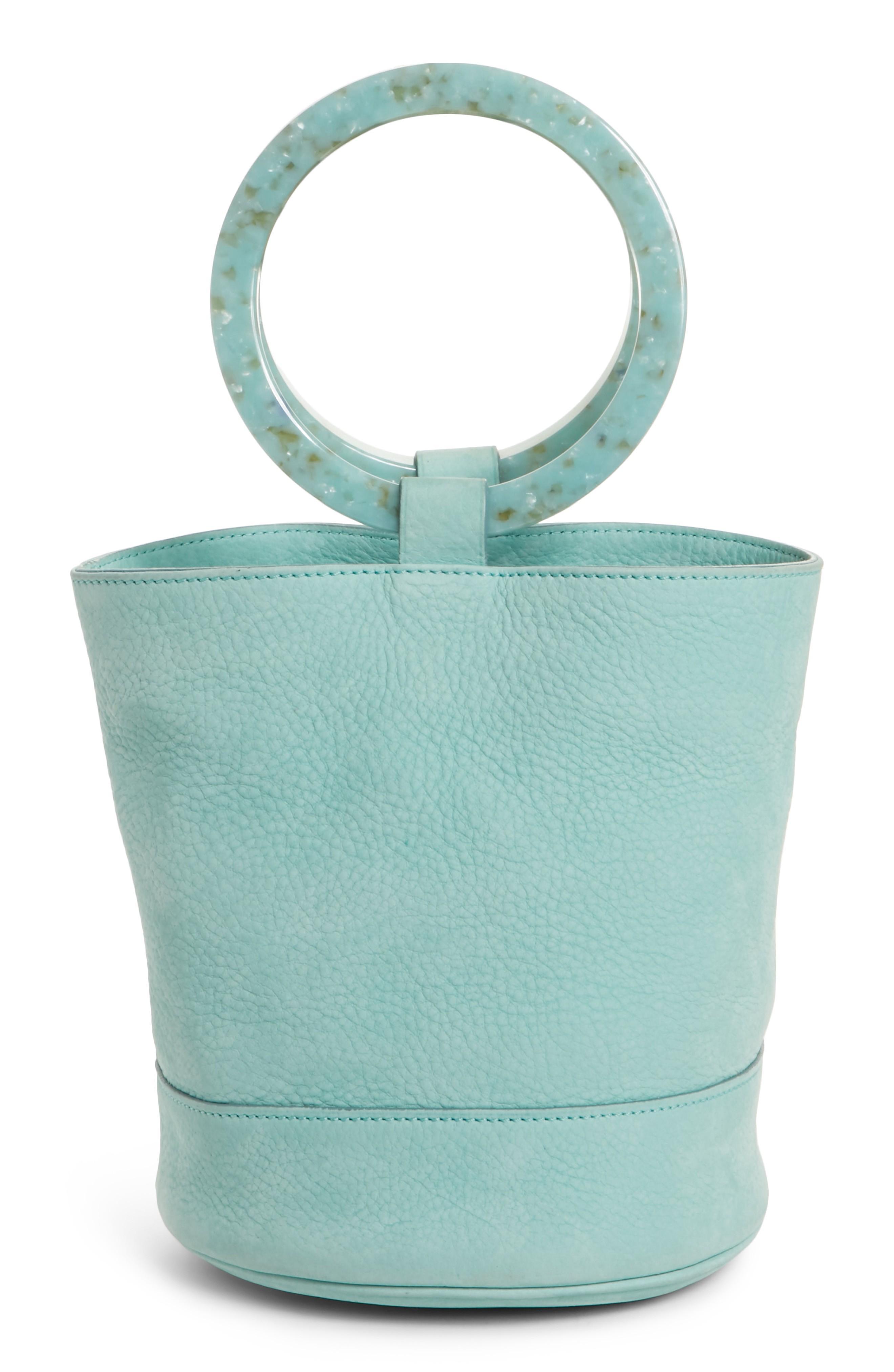 Simon Miller Bonsai 20 Pebbled Leather Bucket Bag - Blue In Splash