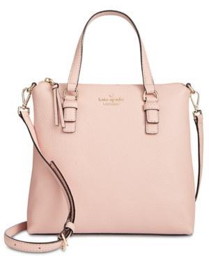 Kate Spade Jackson Street - Hayley Leather Satchel - Pink In Rosy Cheeks