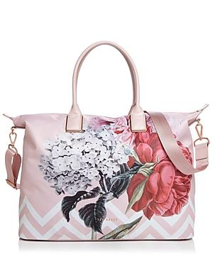 Ted Baker Large Palace Gardens Nylon Tote - Pink In Dusky Pink