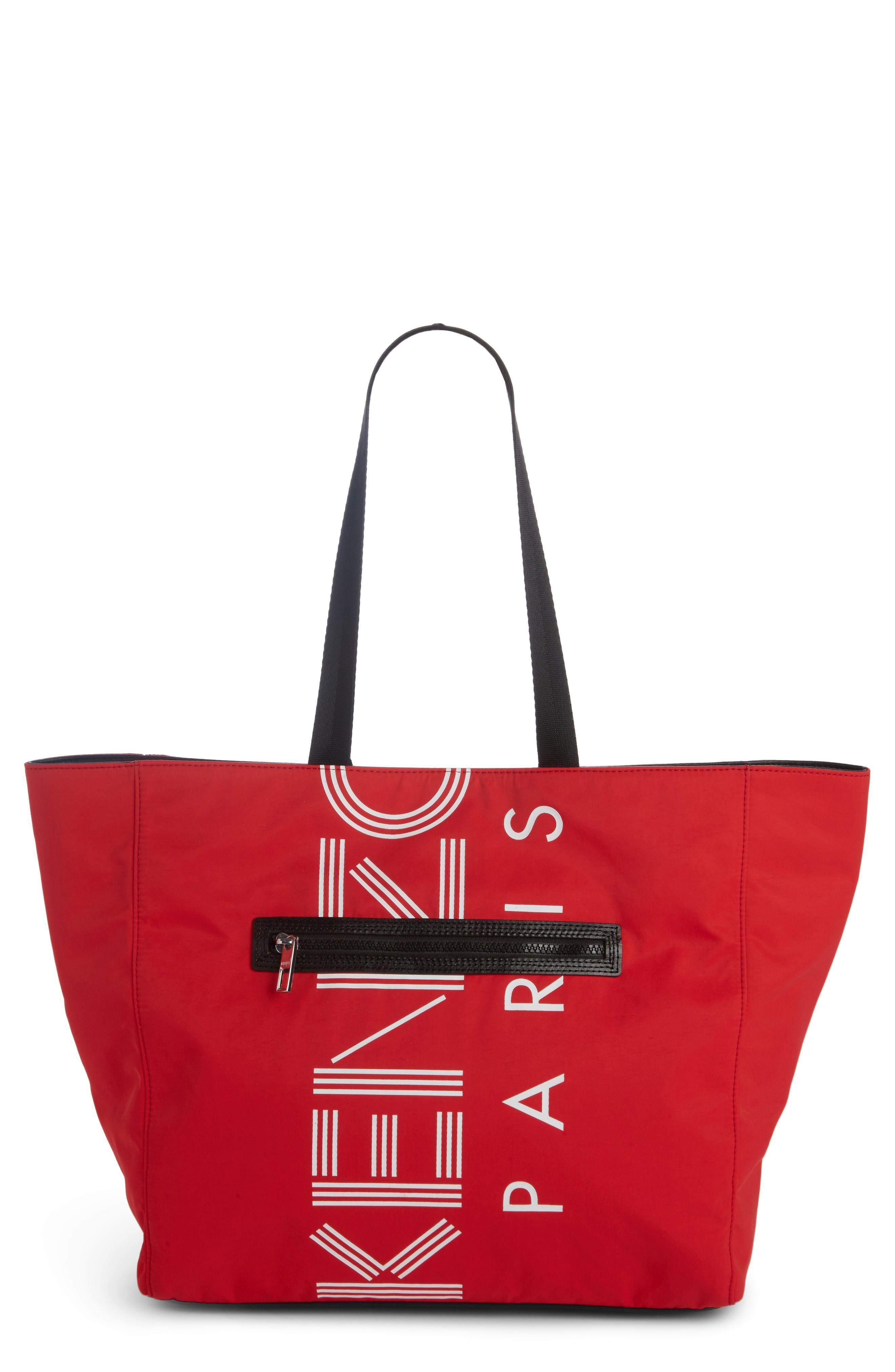 Kenzo Sport Logo Nylon Tote - Red In Medium Red