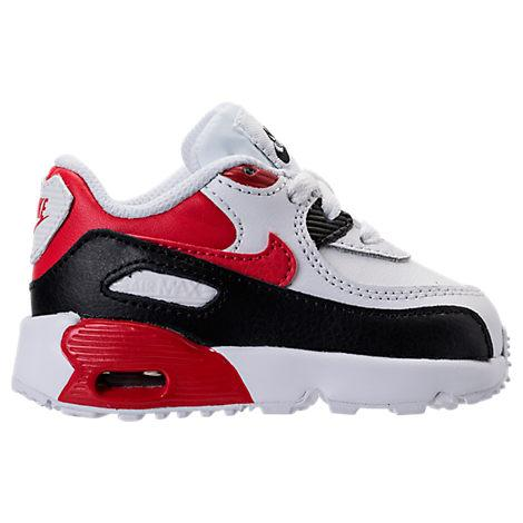 Nike Boys' Toddler Air Max 90 Leather Running Shoes, White