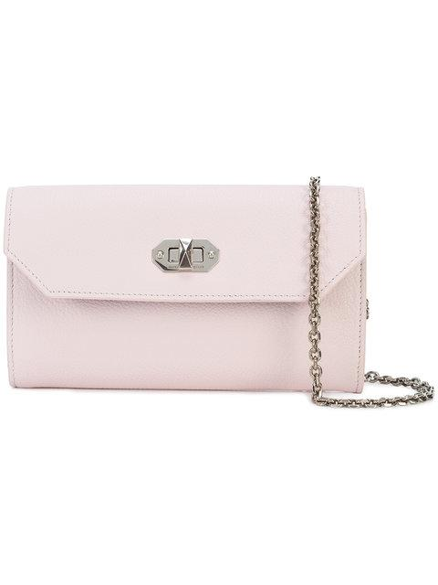 Alexander Mcqueen Box Continental Wallet In Pink & Purple