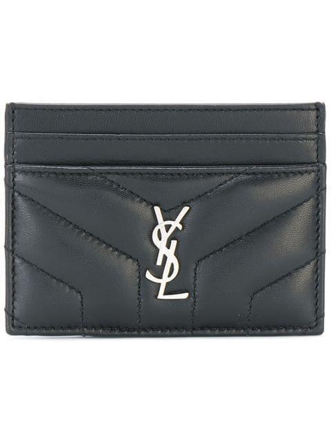 Saint Laurent Loulou Cardholder In Black