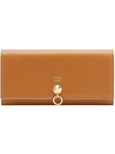 Fendi Hanging Ring Detail Purse - Brown