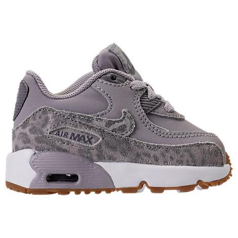 Nike Girls' Toddler Air Max 90 Se Leather Running Shoes, Grey