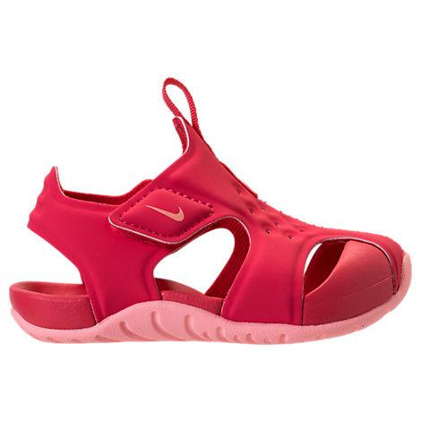 Nike Girls' Toddler Sunray Protect 2 Hook-and-loop Sandals, Pink