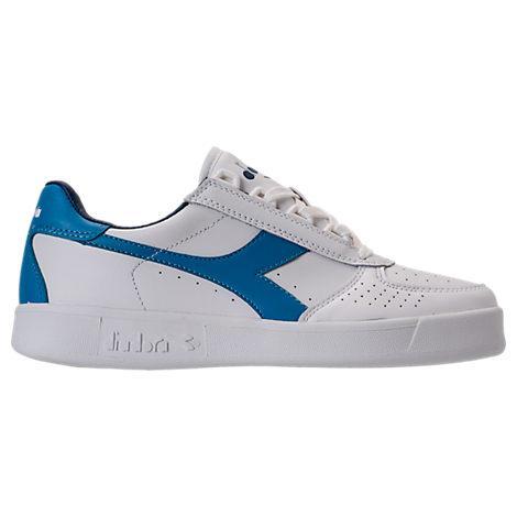 Diadora Men's B.elite Casual Shoes, White/blue