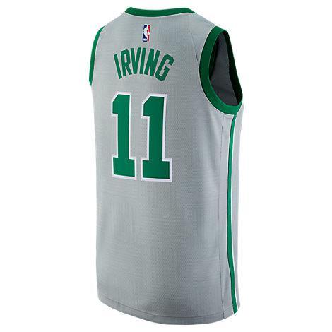 Nike Men's Boston Celtics Nba Kyrie Irving City Edition Connected Jersey, Grey