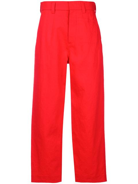 Sofie D'hoore Straight Leg Pants In Red Pepper