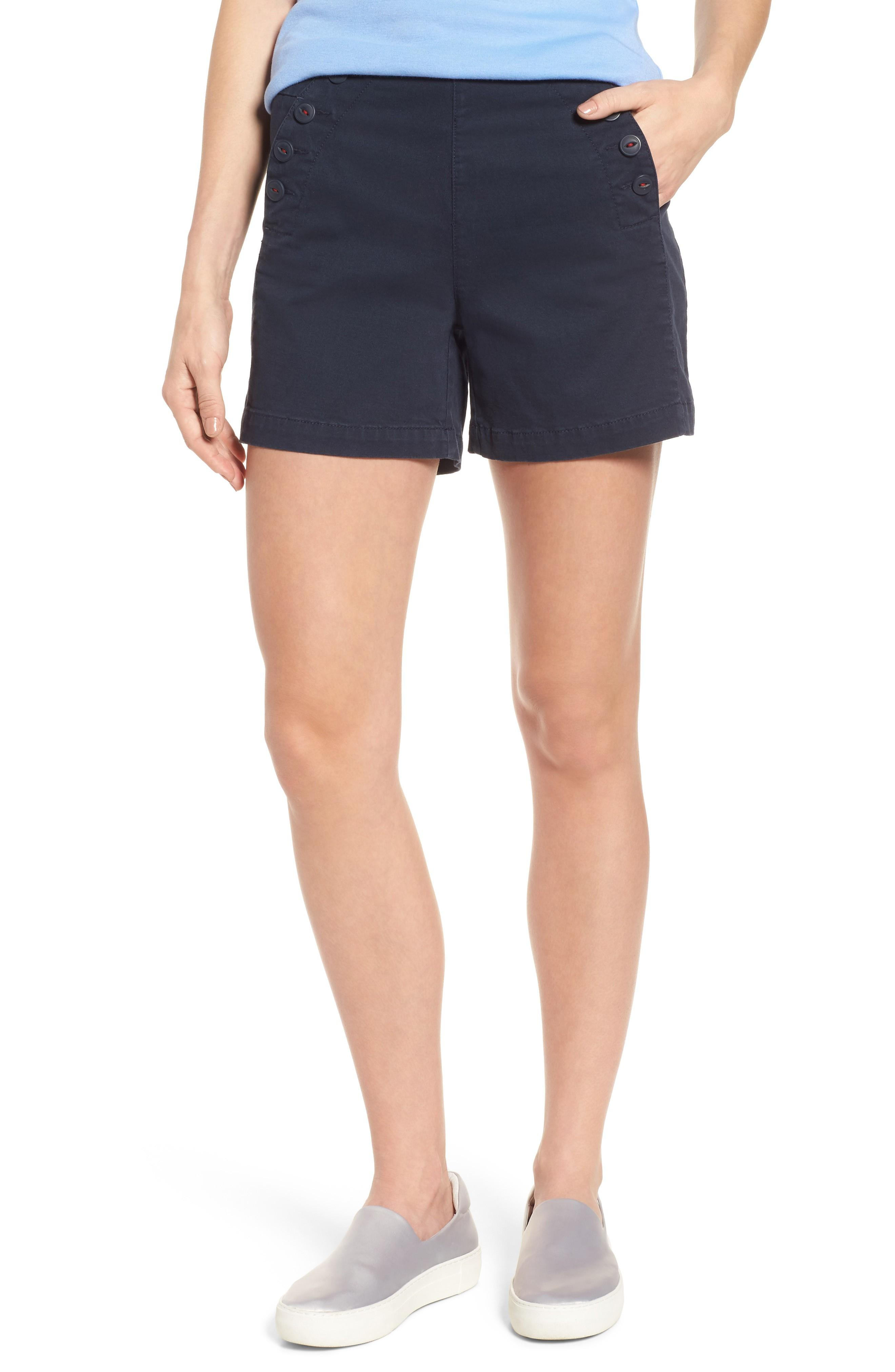 Jag Jeans Sailor Button Detail Shorts In Nautical N