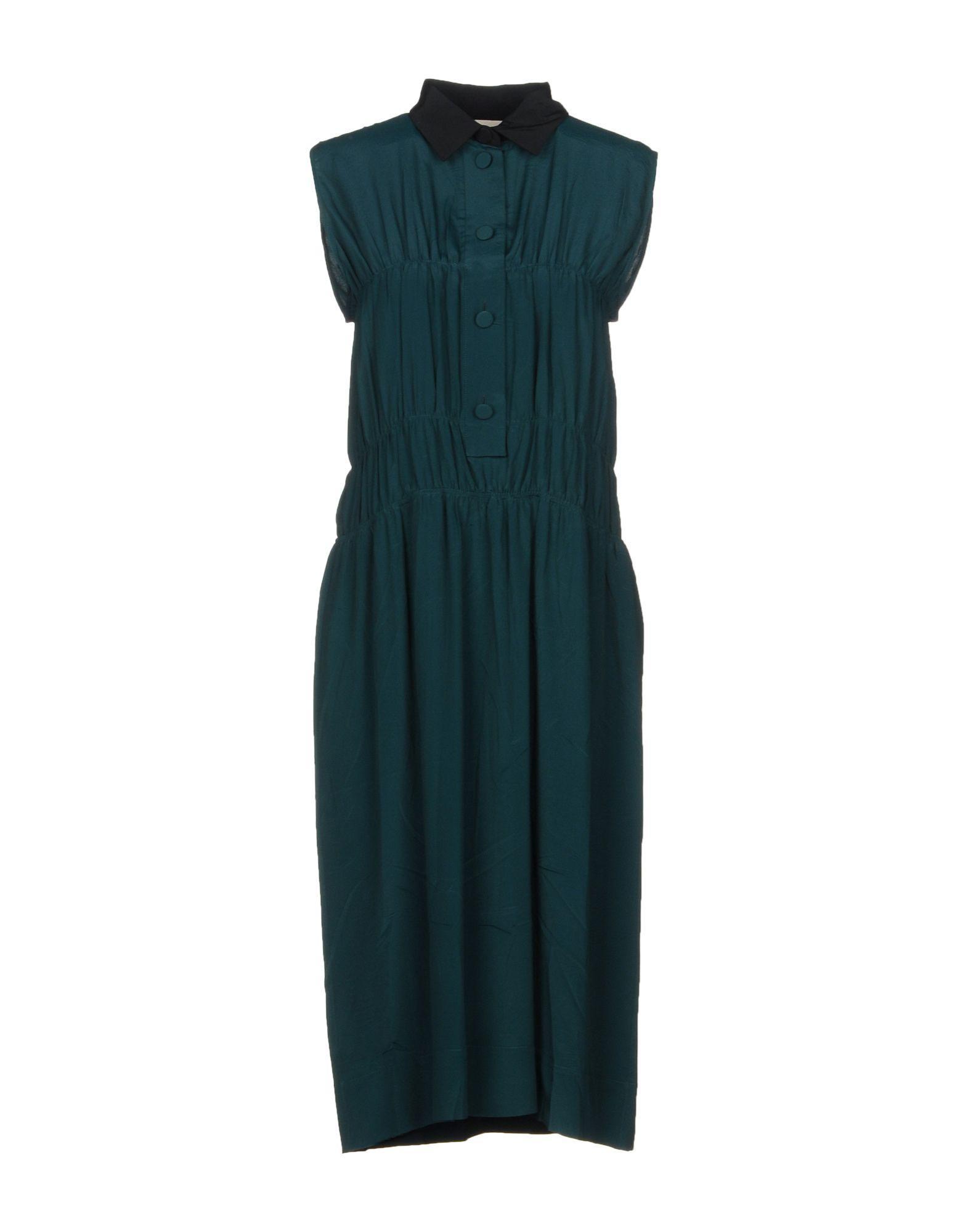 Marni Knee-length Dresses In Emerald Green