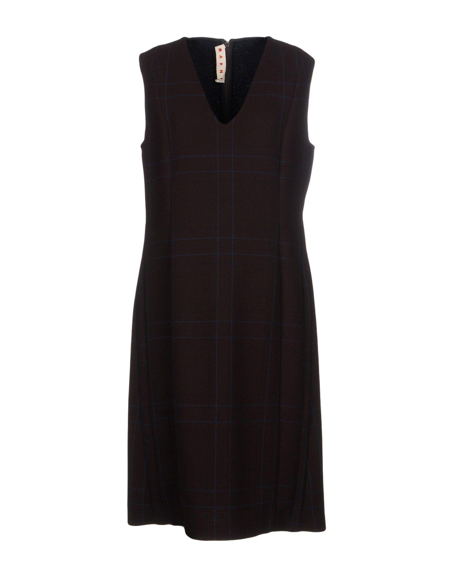 Marni Knee-length Dresses In Cocoa