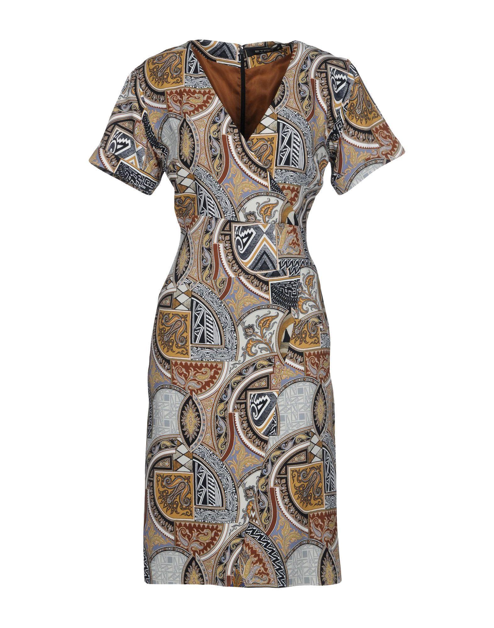 Etro Knee-length Dress In Brown