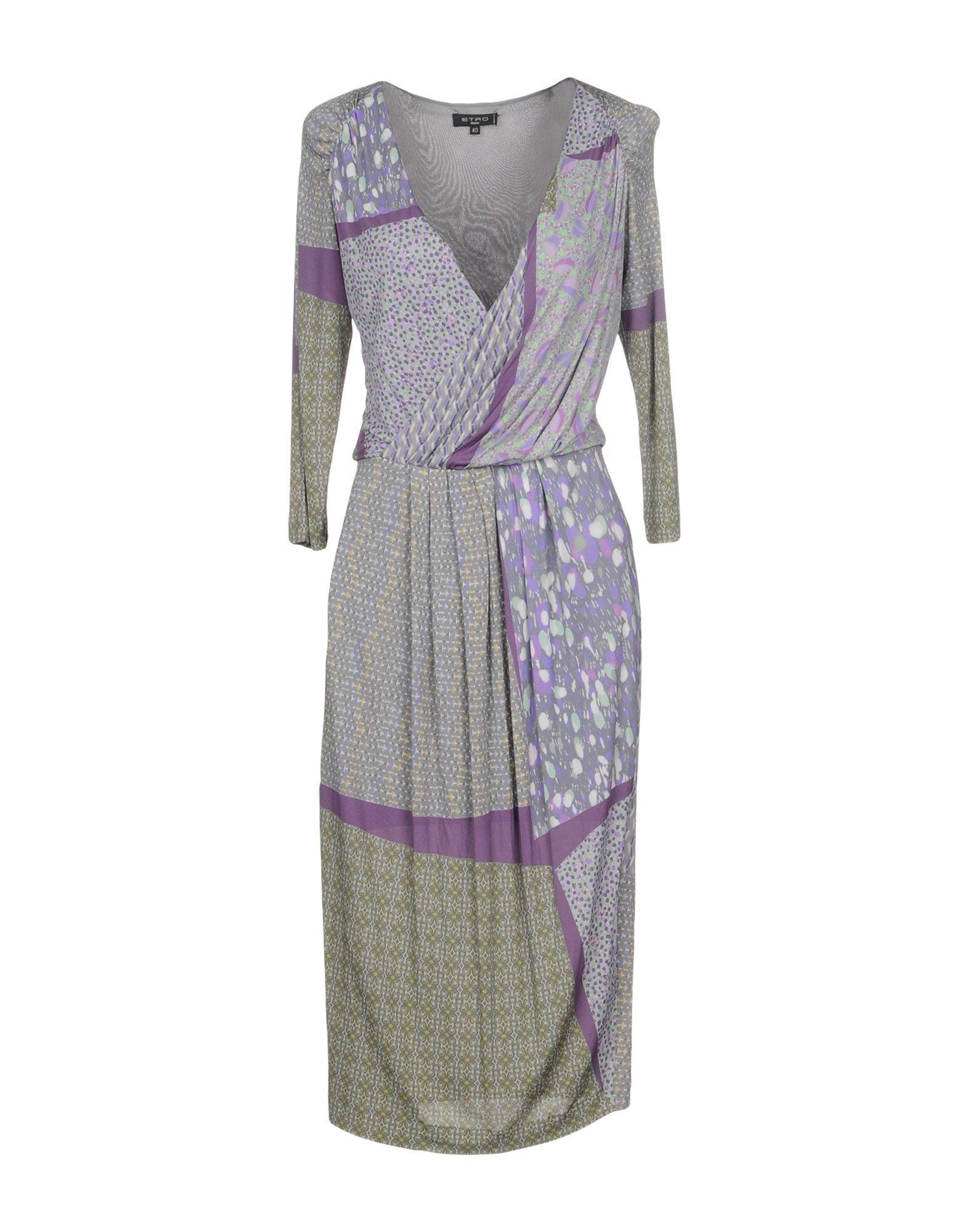 Etro Knee-length Dresses In Grey
