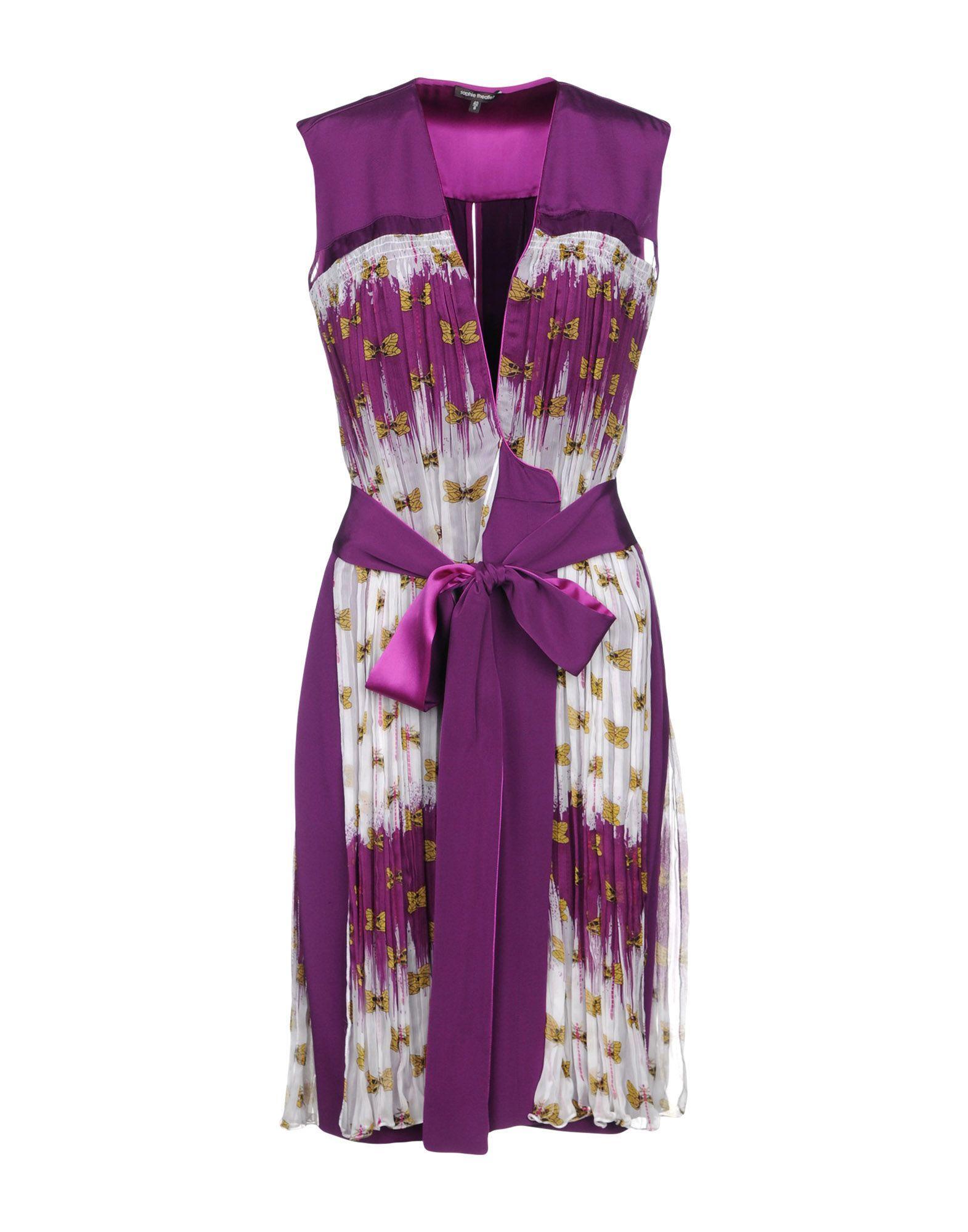 Sophie Theallet Knee-Length Dress In Purple