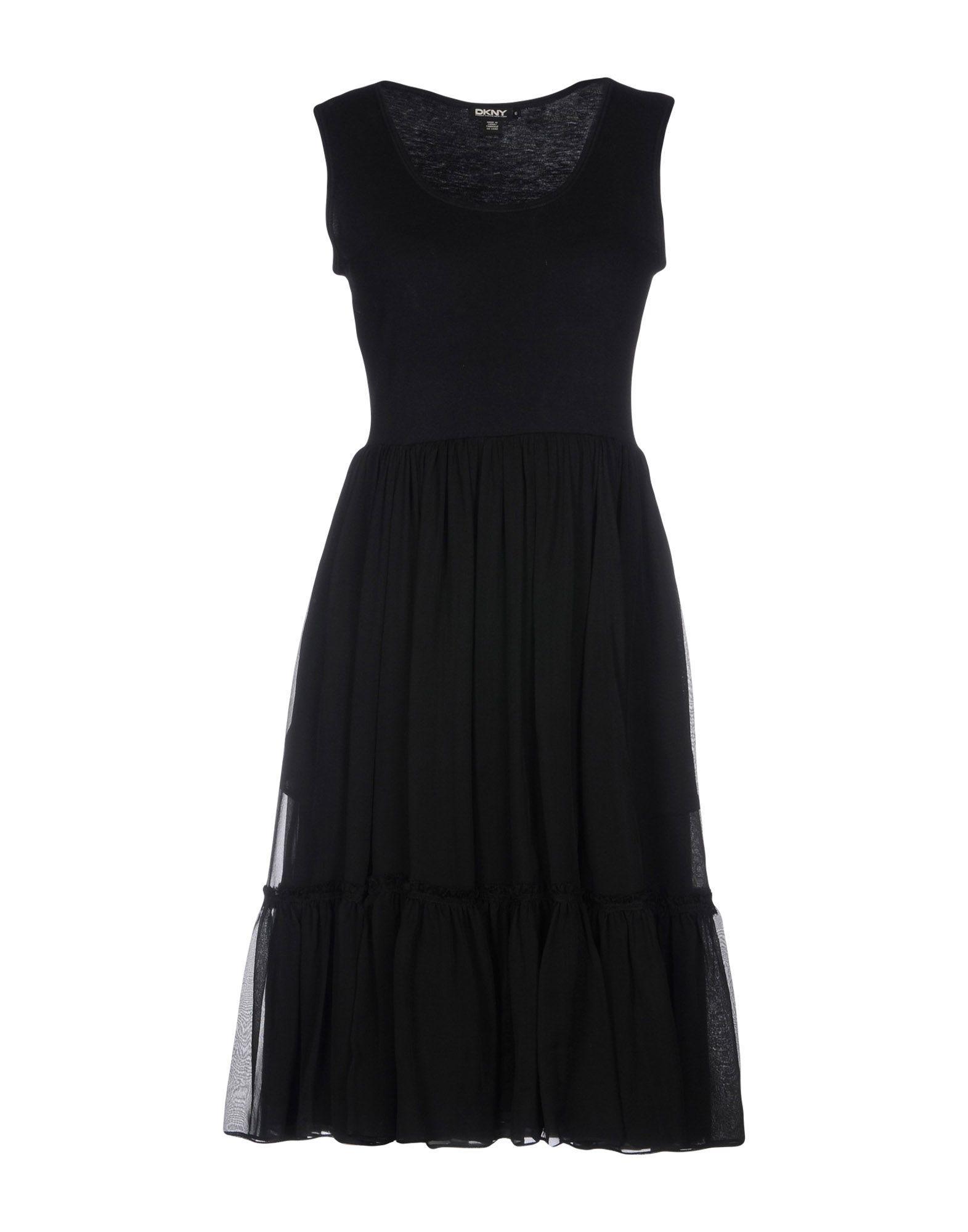 Dkny Knee-length Dress In Black