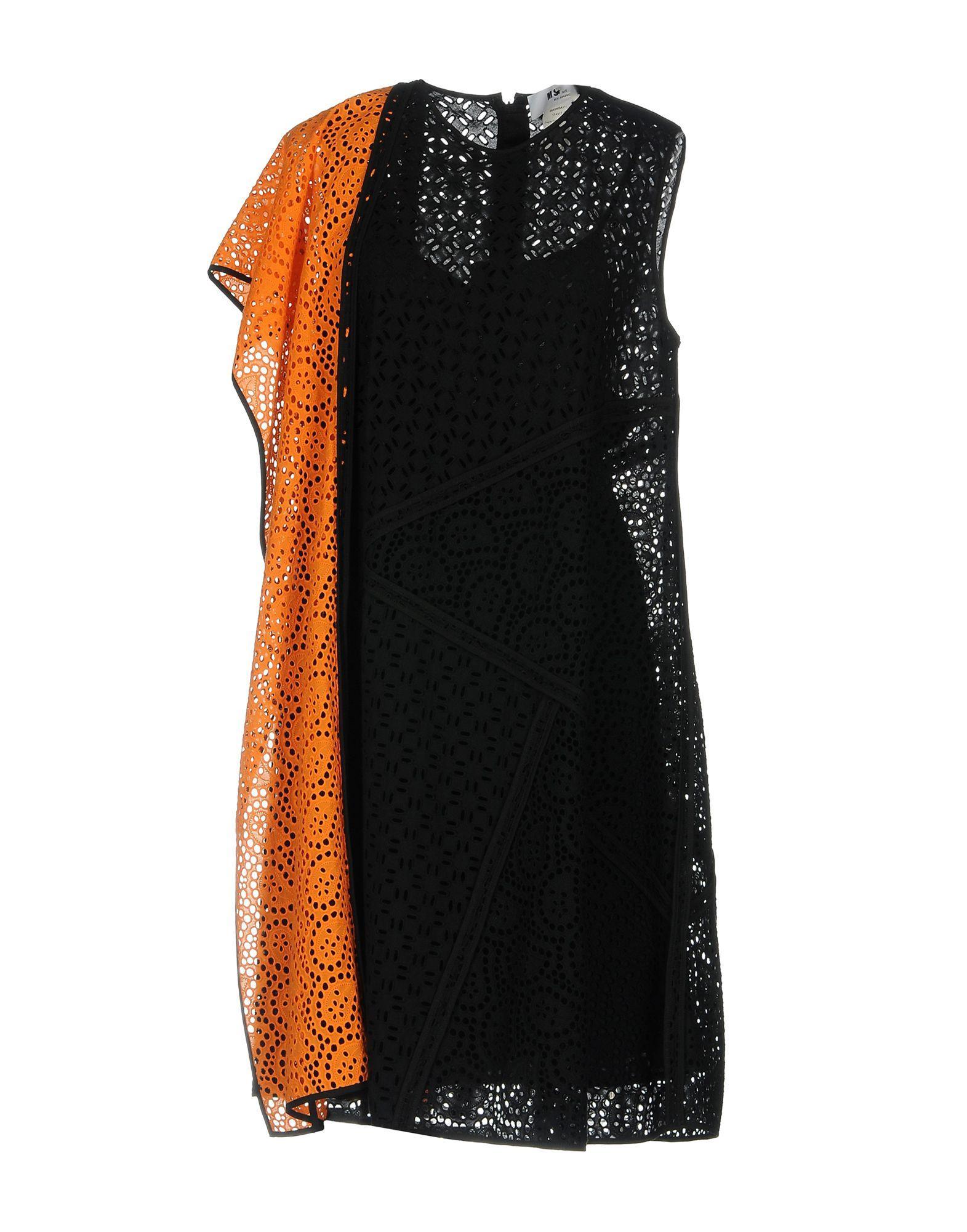 Msgm Knee-length Dress In Black