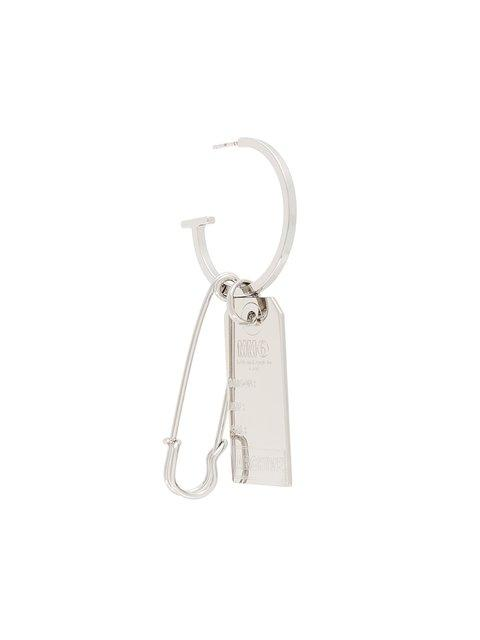 Mm6 Maison Margiela Safety Pin And Tag Earring