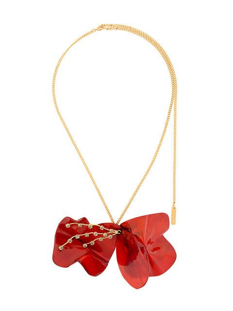 Marni Floral Resin Necklace - Red