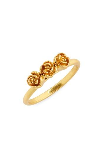 Madewell Triple Rosebud Ring In Vintage Gold