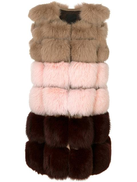 Liska Sleeveless Colour Block Coat