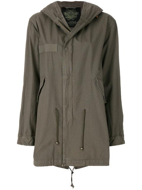 Mr & Mrs Italy Patched Midi Parka In Green