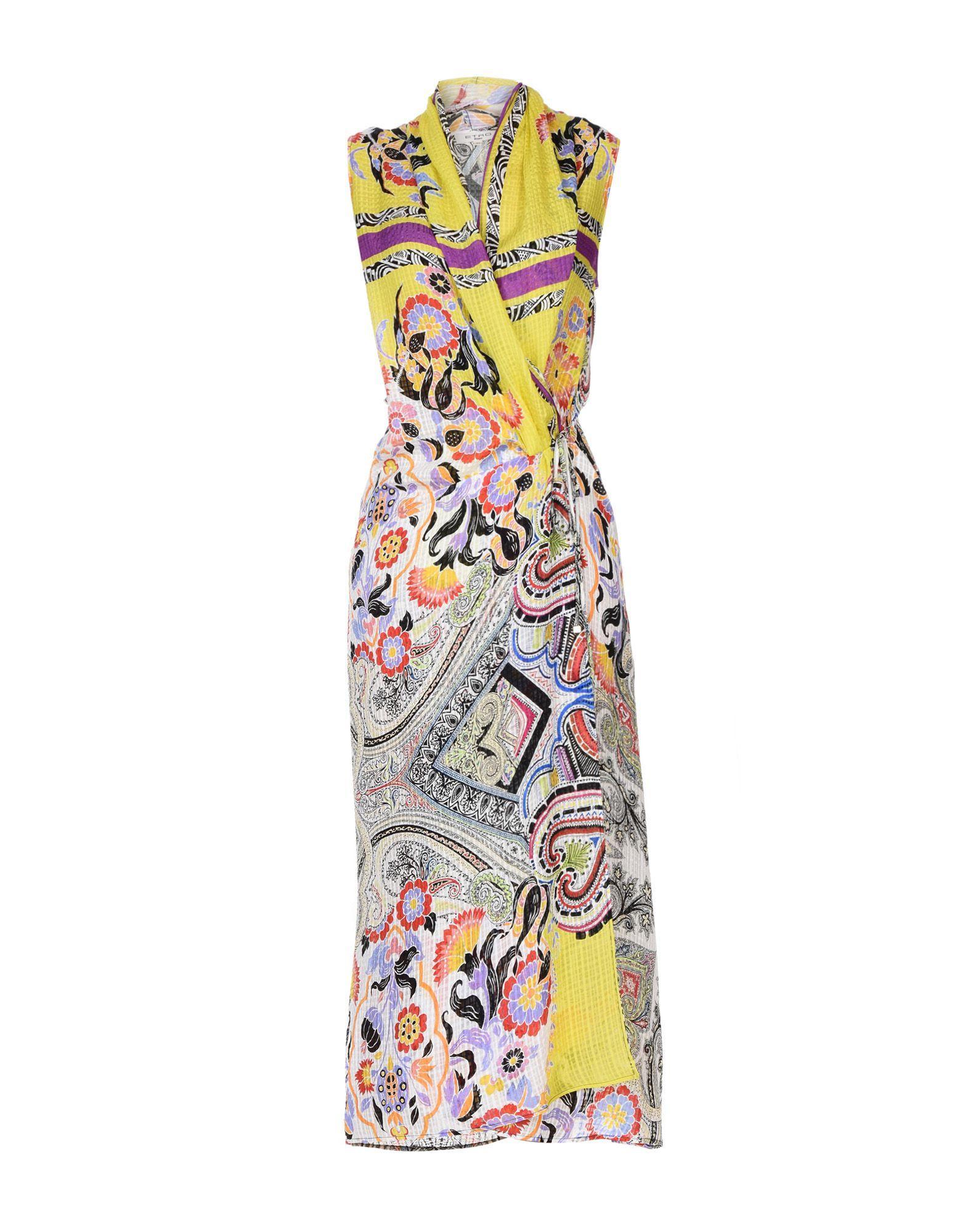 Etro Long Dress In Yellow