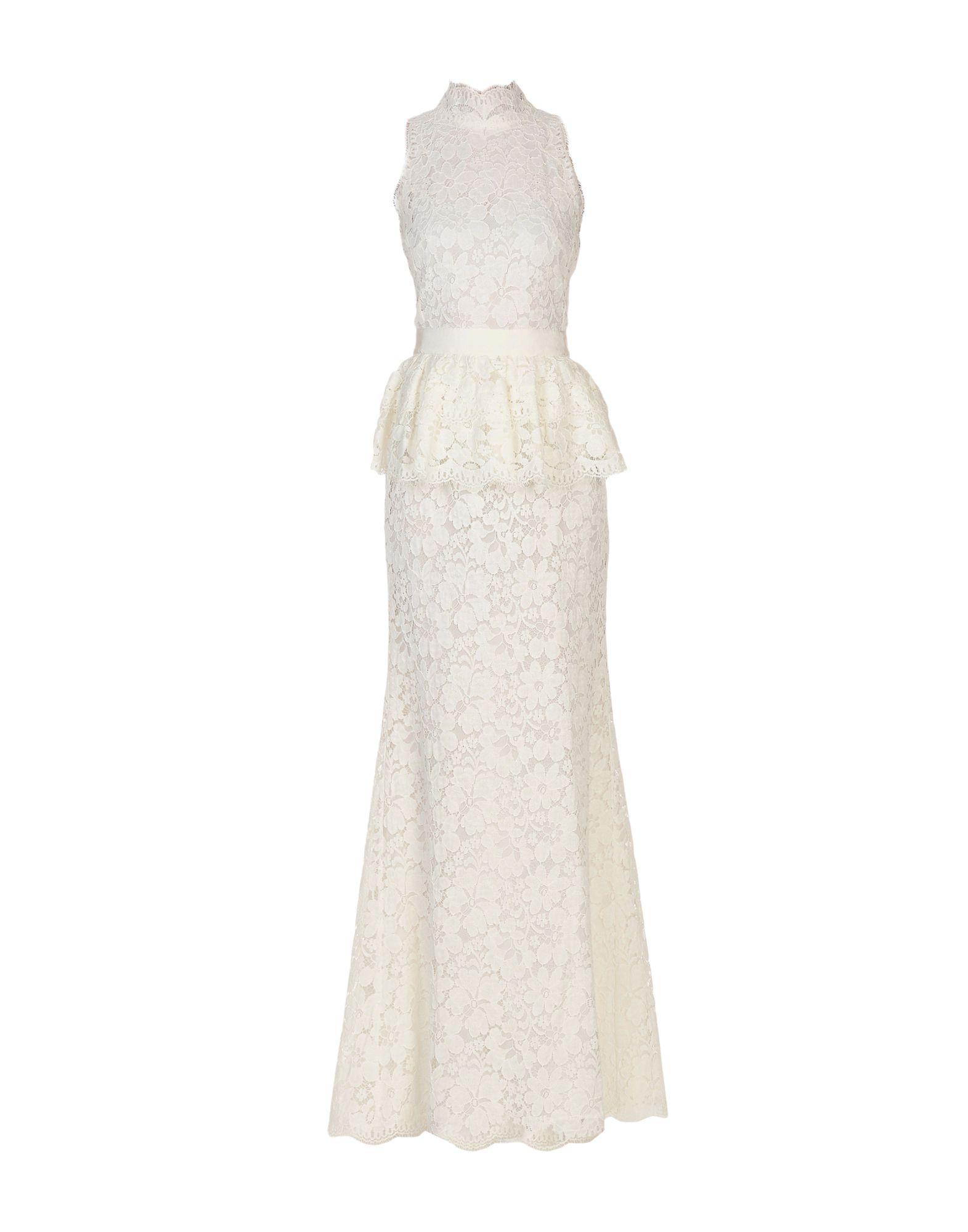 Alexander Mcqueen Long Dresses In White
