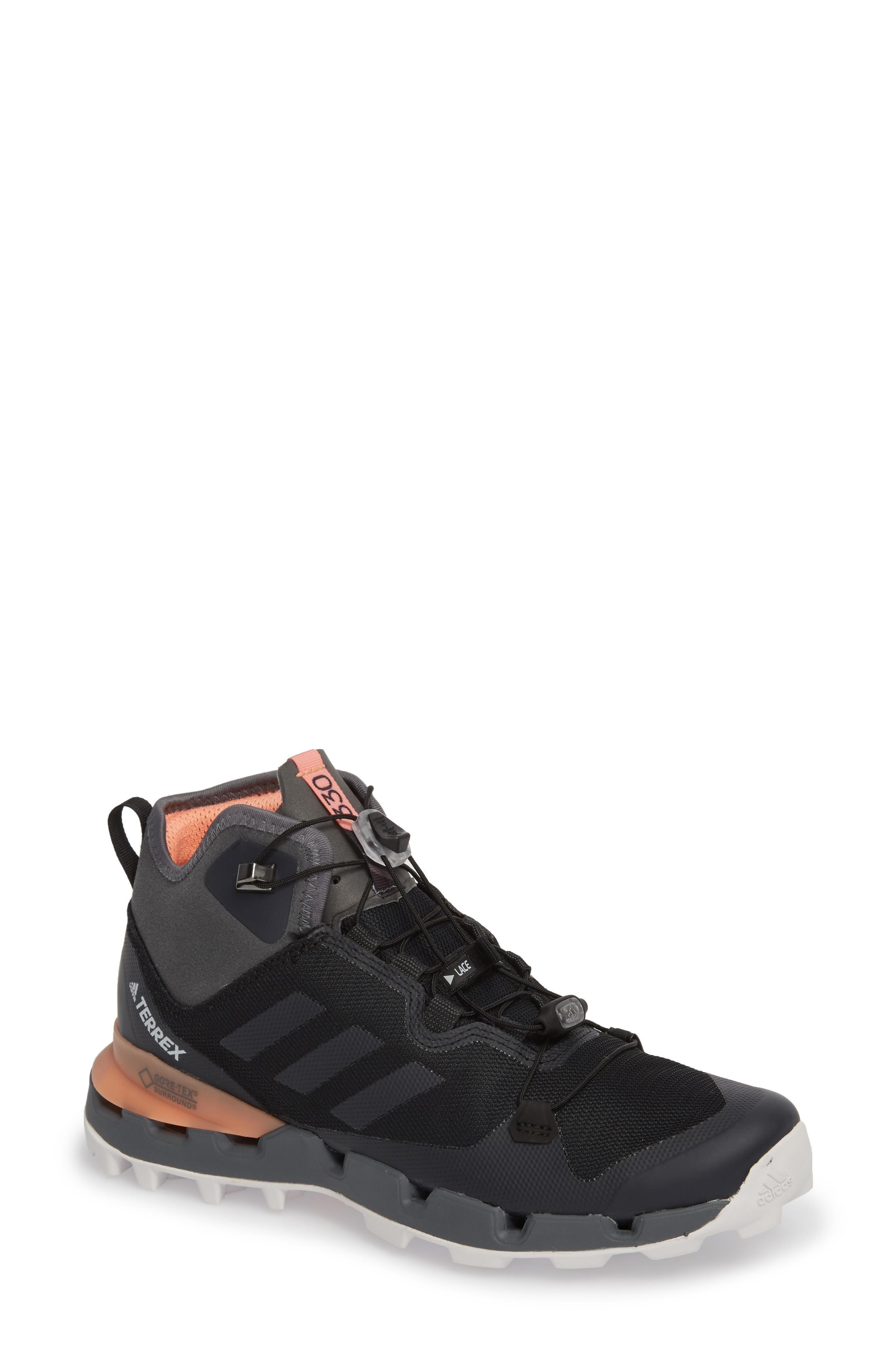 Adidas Originals Terrex Fast Mid Gore-tex In Black/ Grey Five/ Chalk Coral