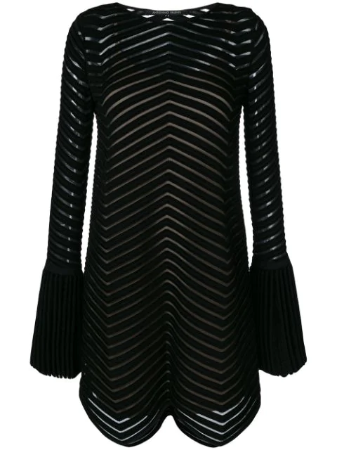 Antonino Valenti Flared Embroidered Dress In Black