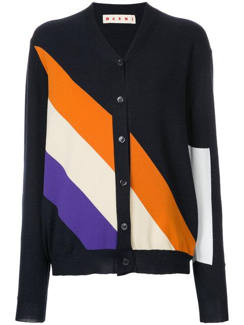 Marni Cashmere Striped Cardigan