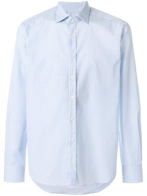 Etro New Warrant Fine Check Shirt