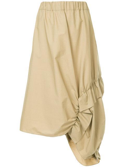 Marni Asymmetric Ruffled Skirt
