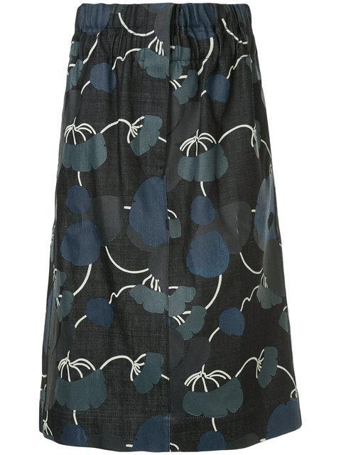 Marni Elasticated A-line Skirt