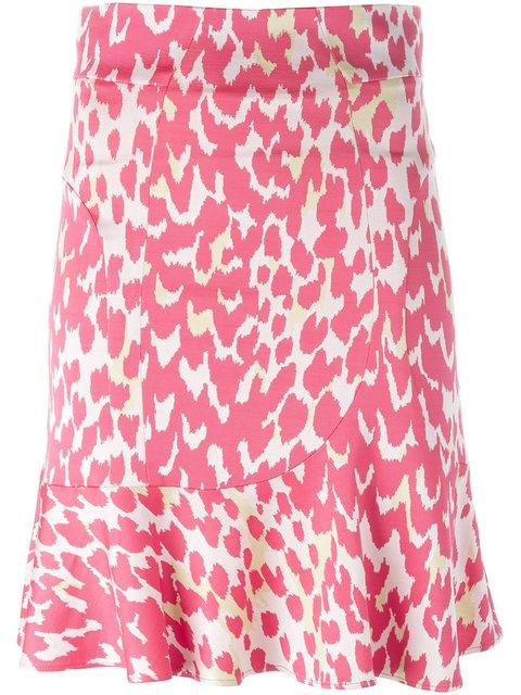 Issa Ruffle Hem Skirt In Pink