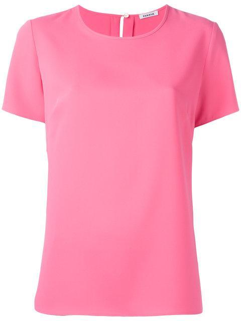 P.a.r.o.s.h. Round Neck T-shirt - Pink In Pink & Purple