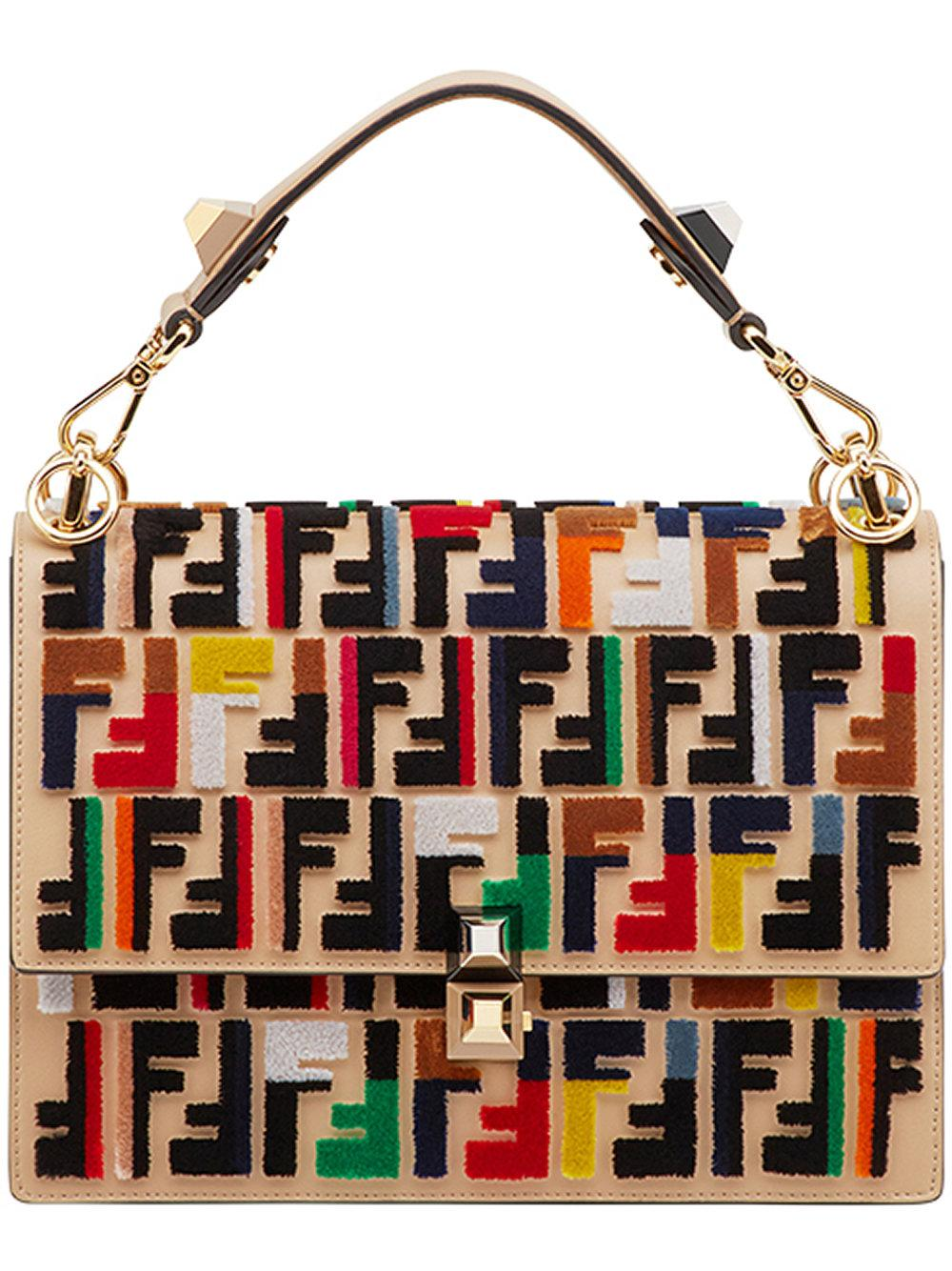 72c45fe7 Kan I Bag With Multicolor Zucca Embroidery in Multicolour