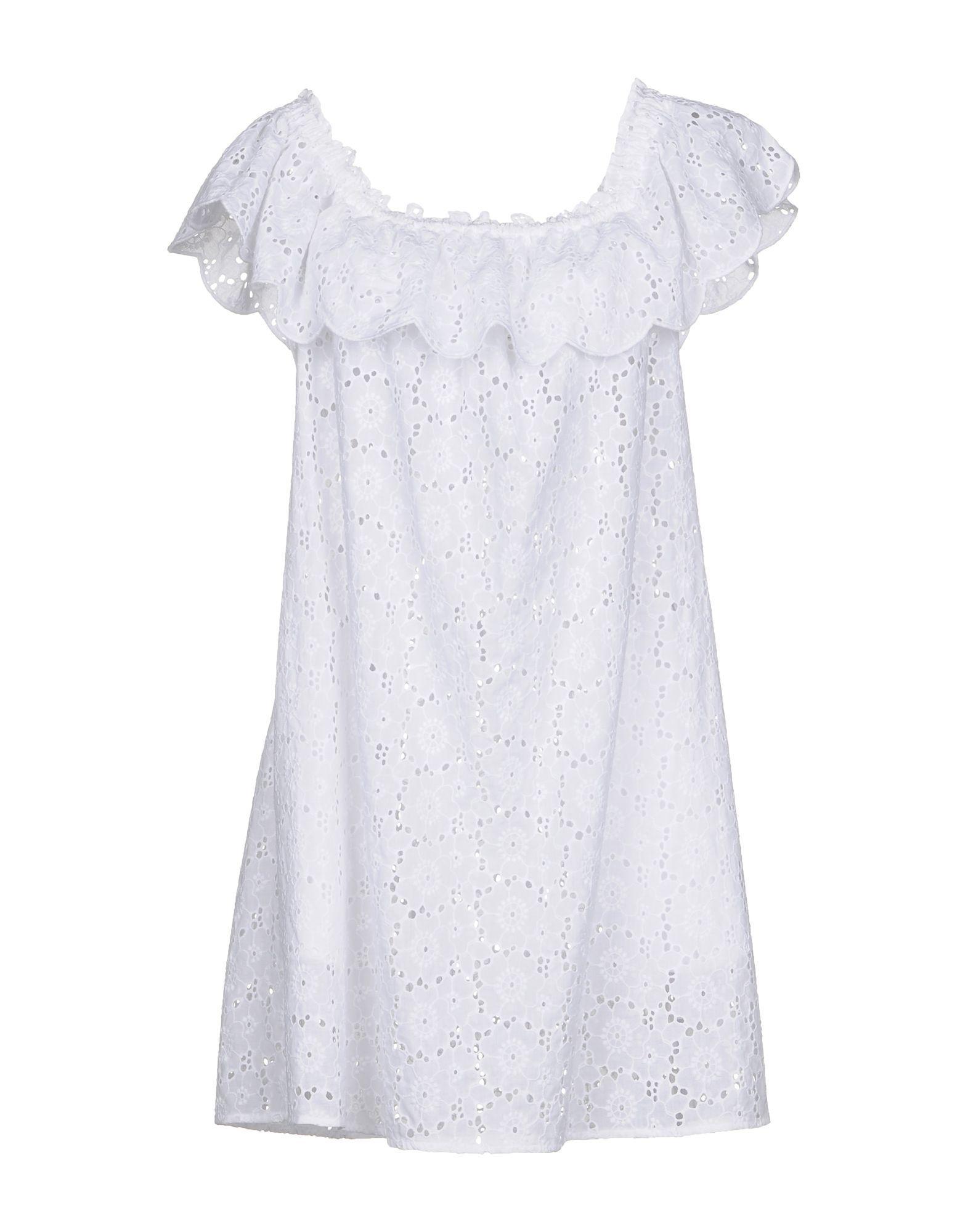 Tory Burch Short Dresses In White