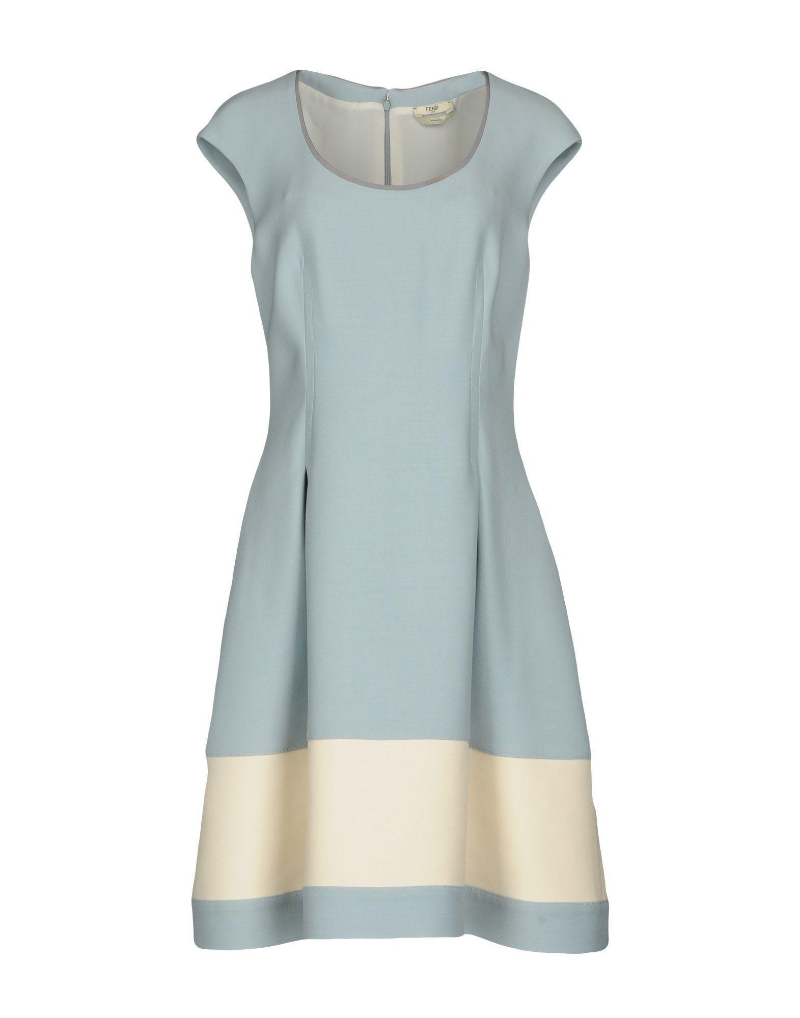 Fendi Short Dress In Sky Blue