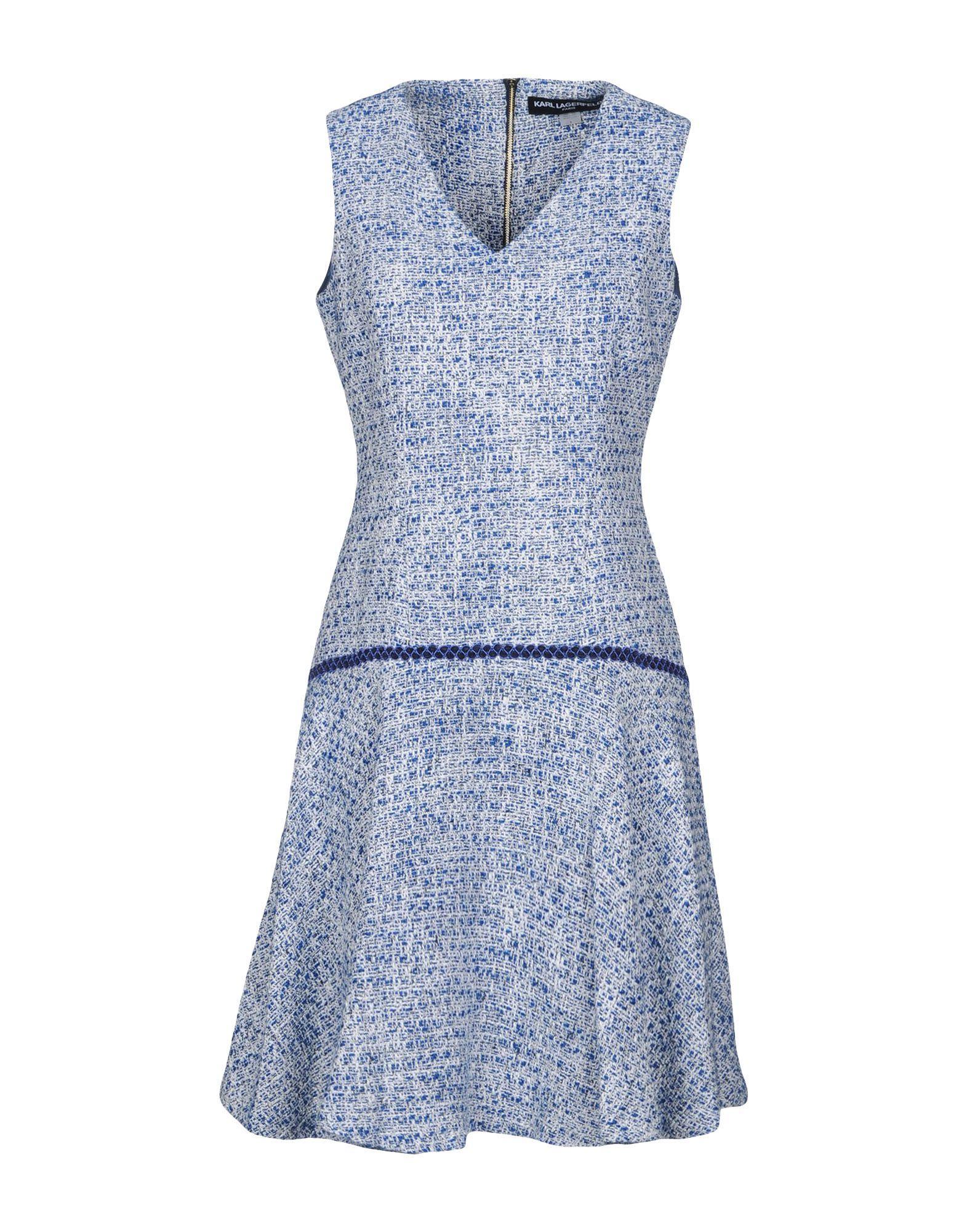 Karl Lagerfeld Short Dresses In Blue