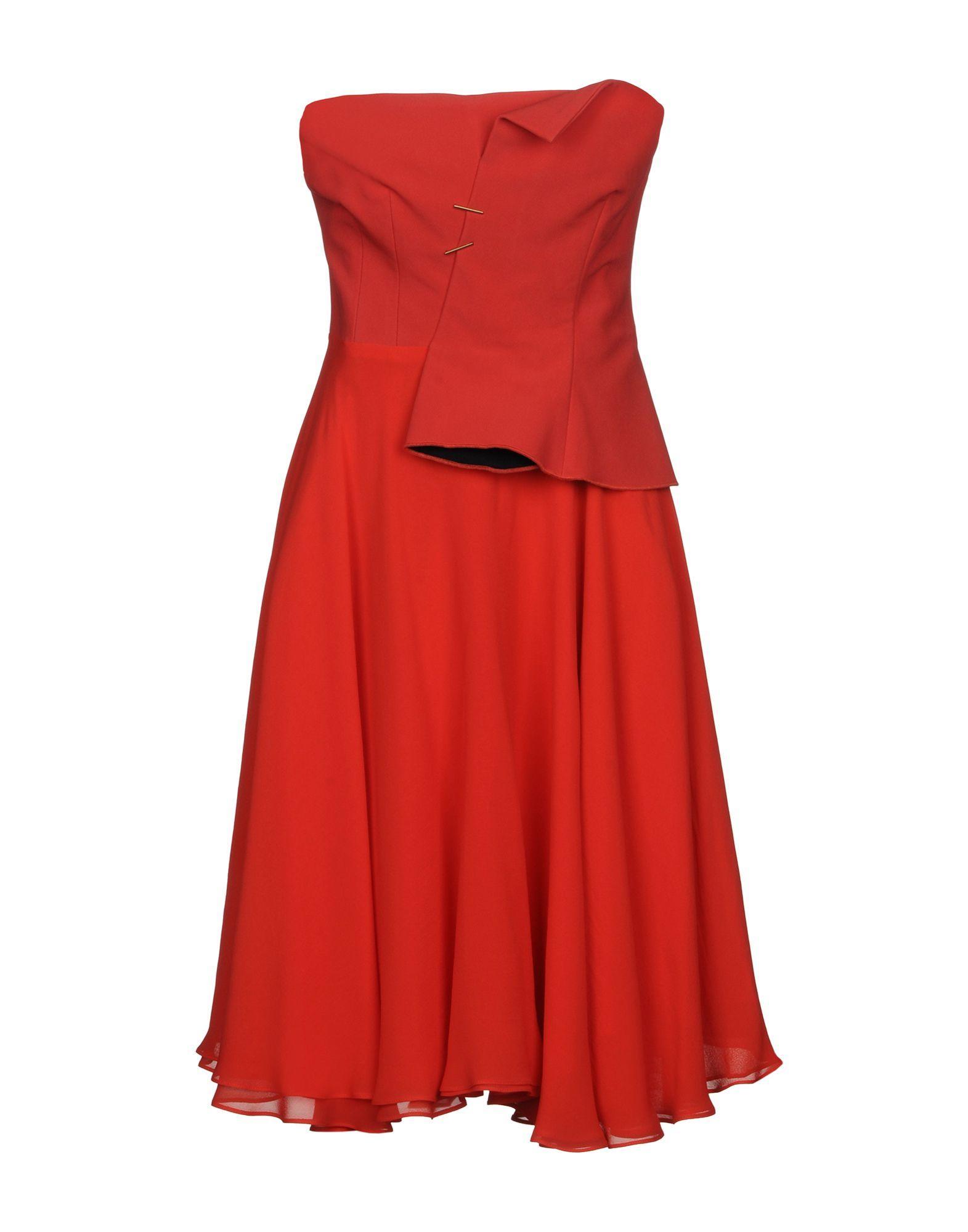 Marios Schwab Short Dress In Coral
