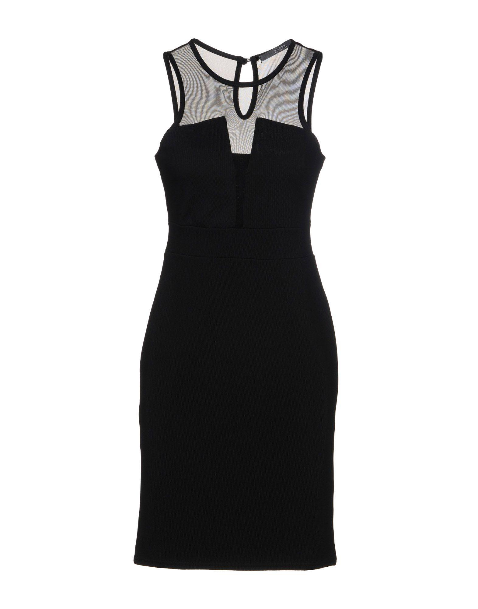 Guess Short Dress In Black