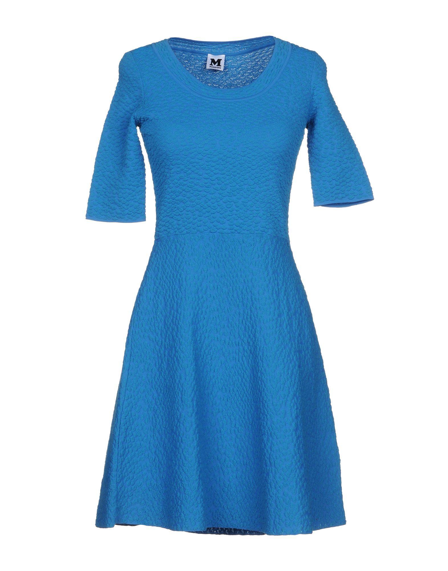 M Missoni Short Dress In Azure