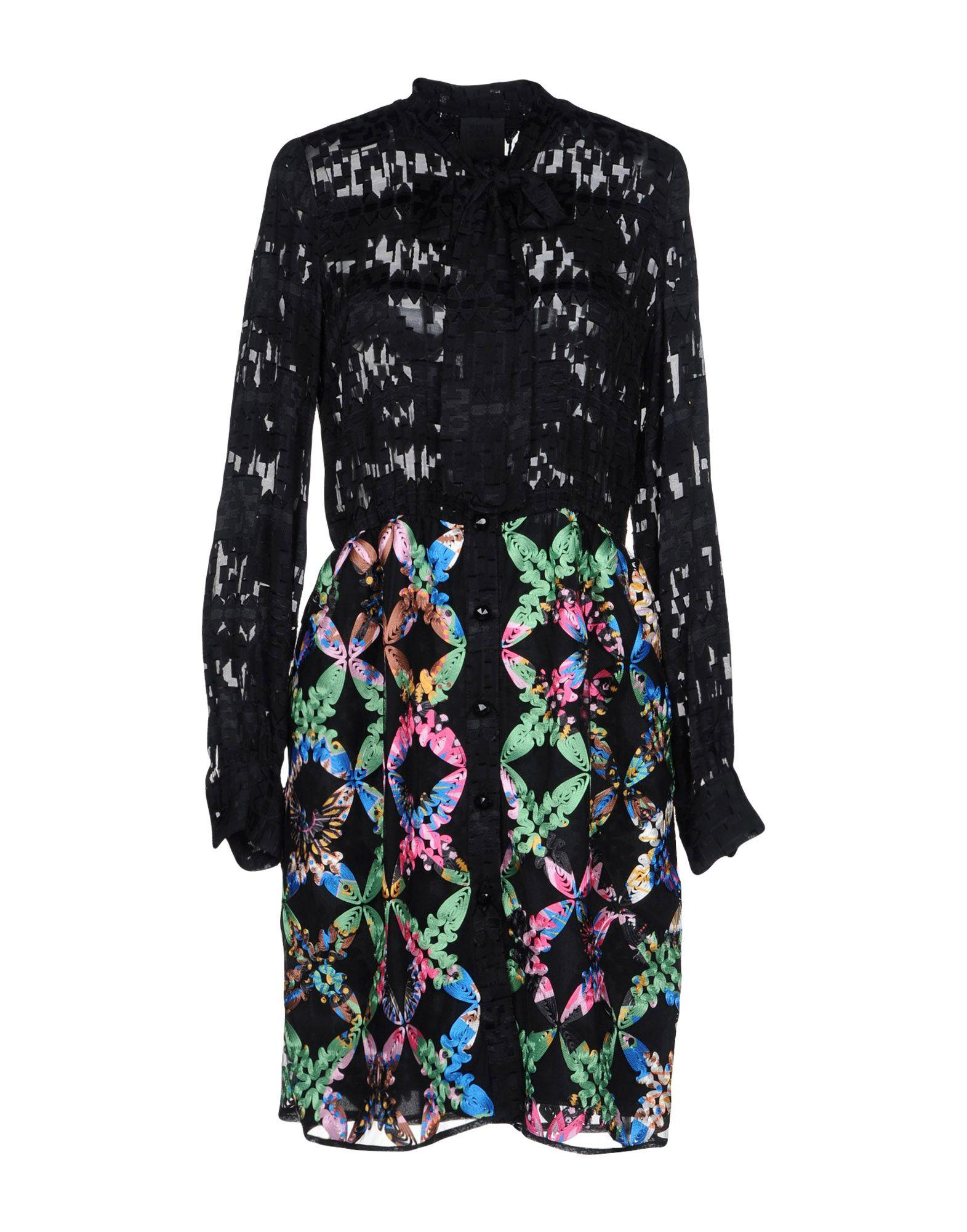 Anna Sui Short Dresses In Black