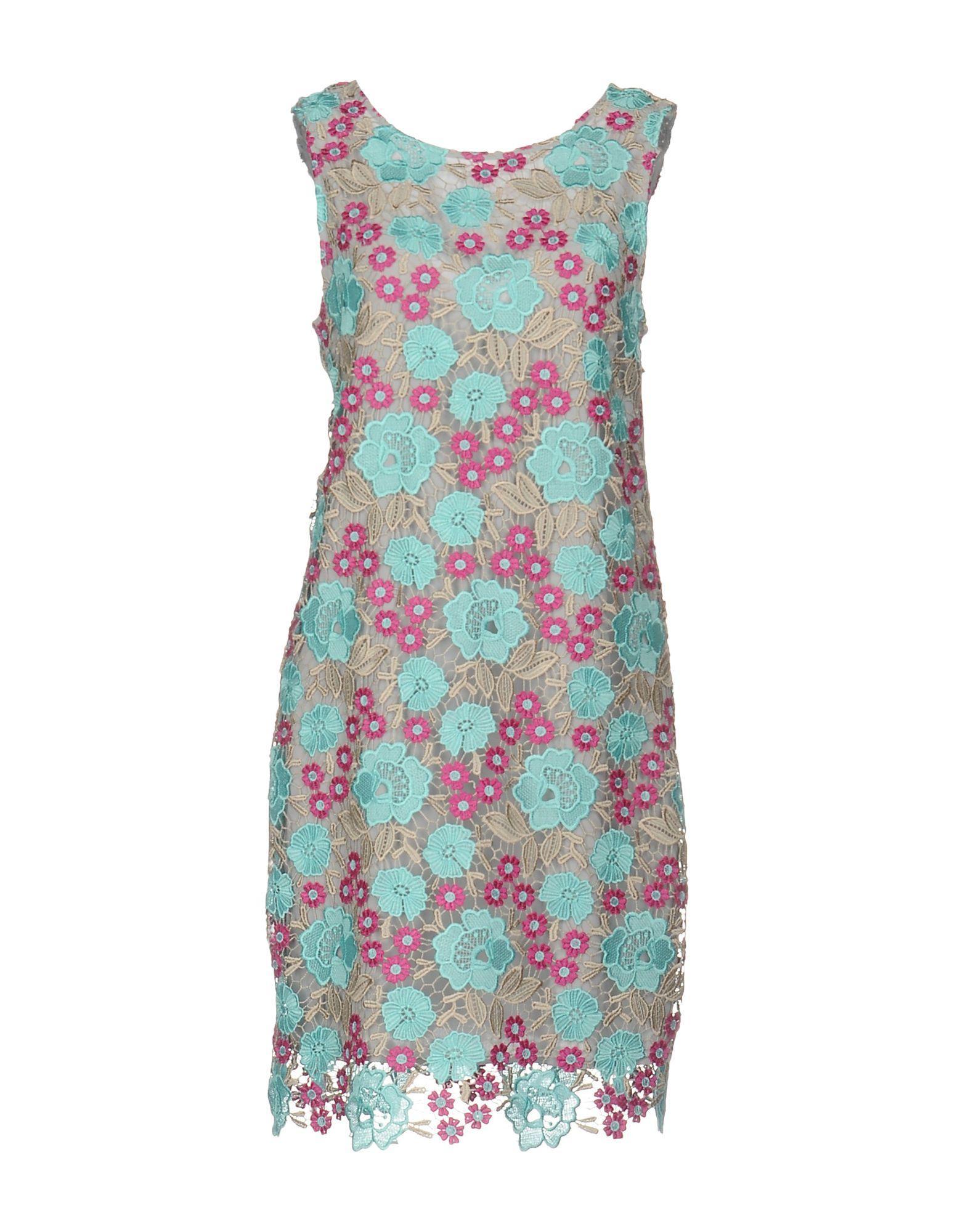 Patrizia Pepe Short Dresses In Sky Blue
