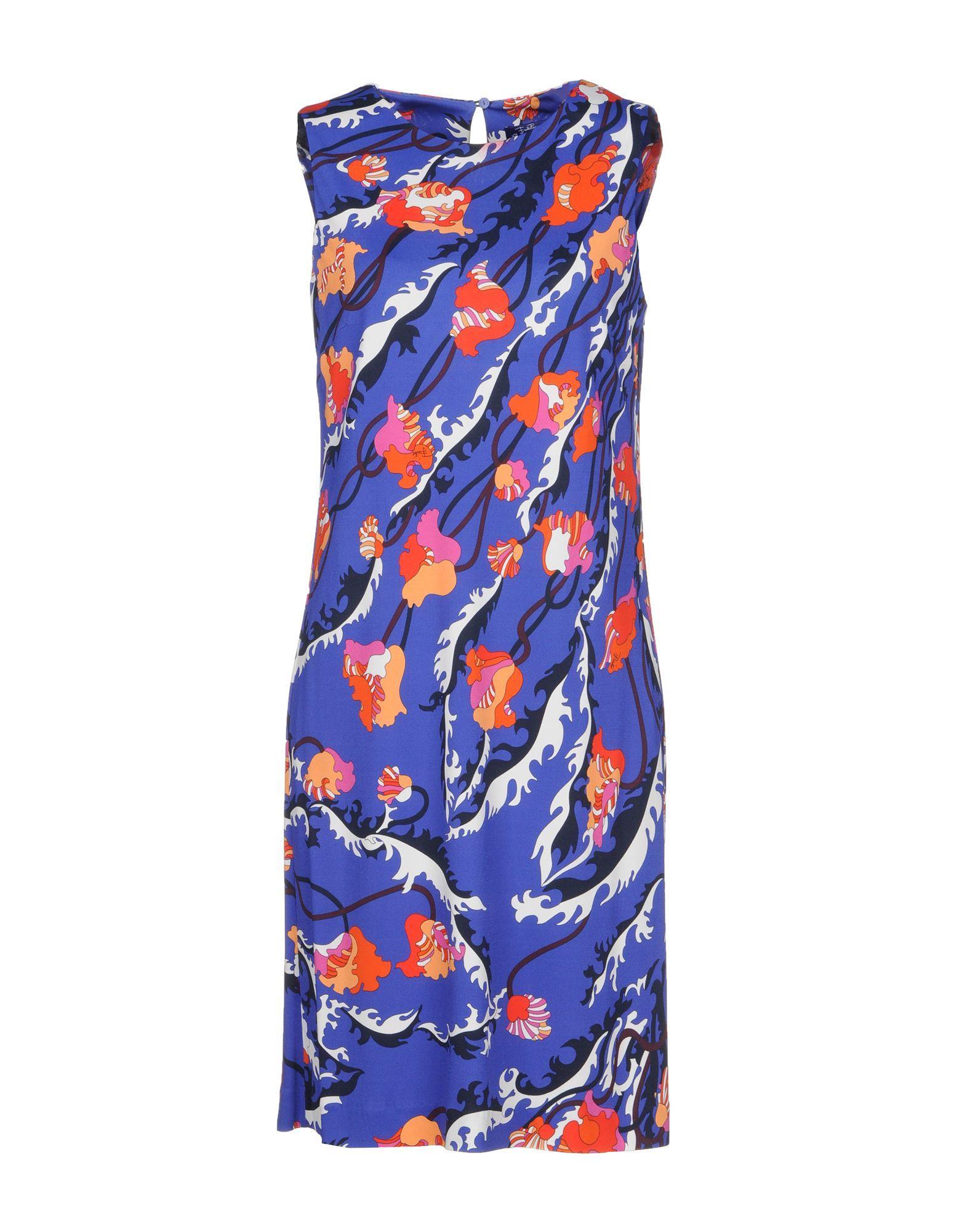 Emilio Pucci Short Dress In Blue