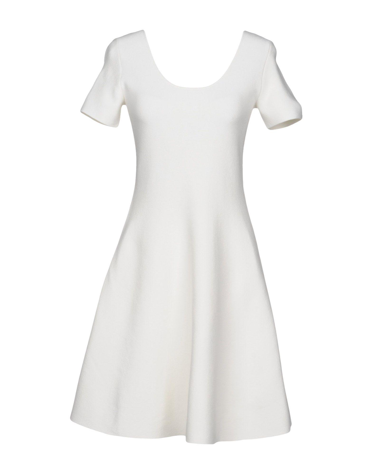Theory Short Dresses In Ivory