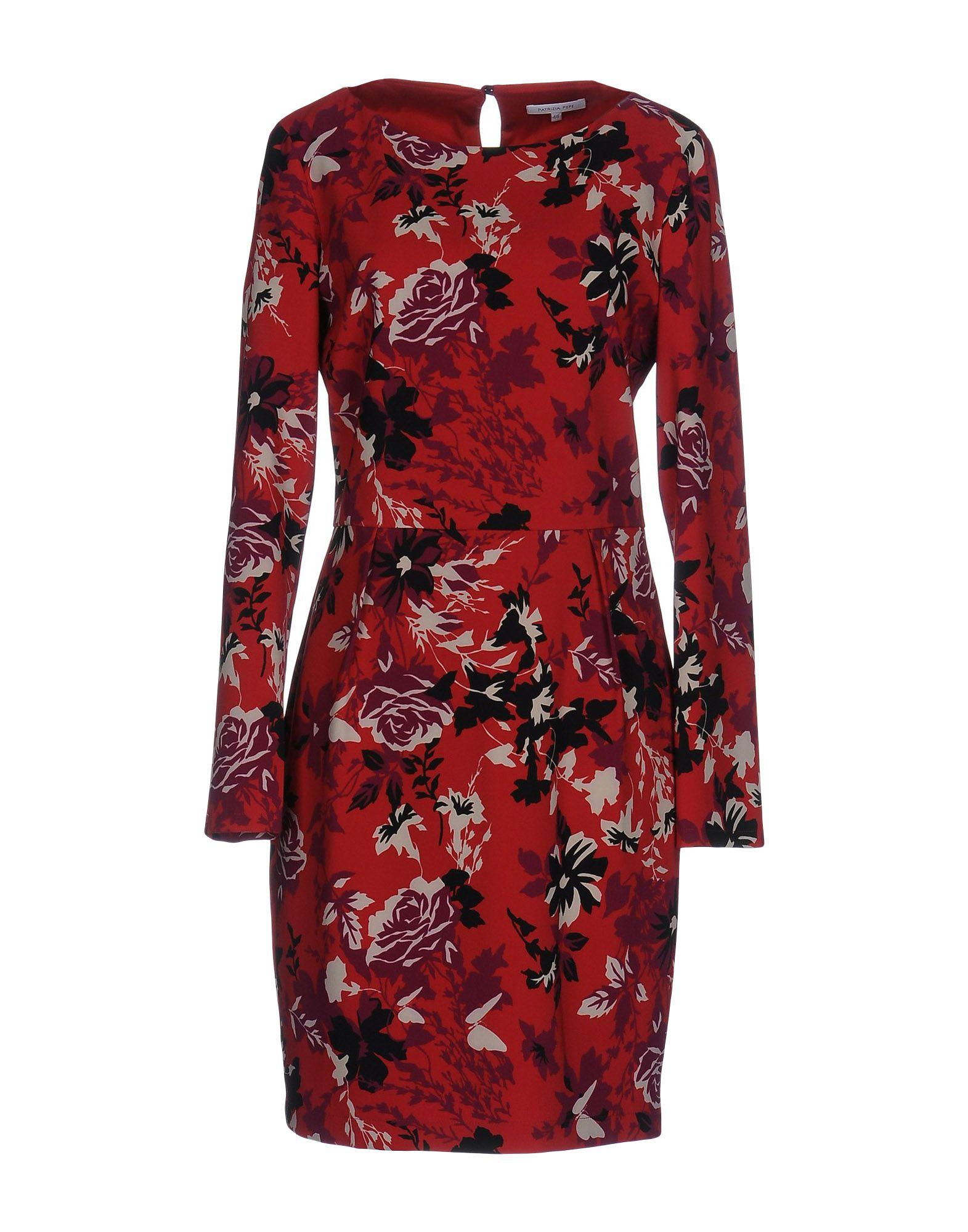 Patrizia Pepe Short Dress In Red