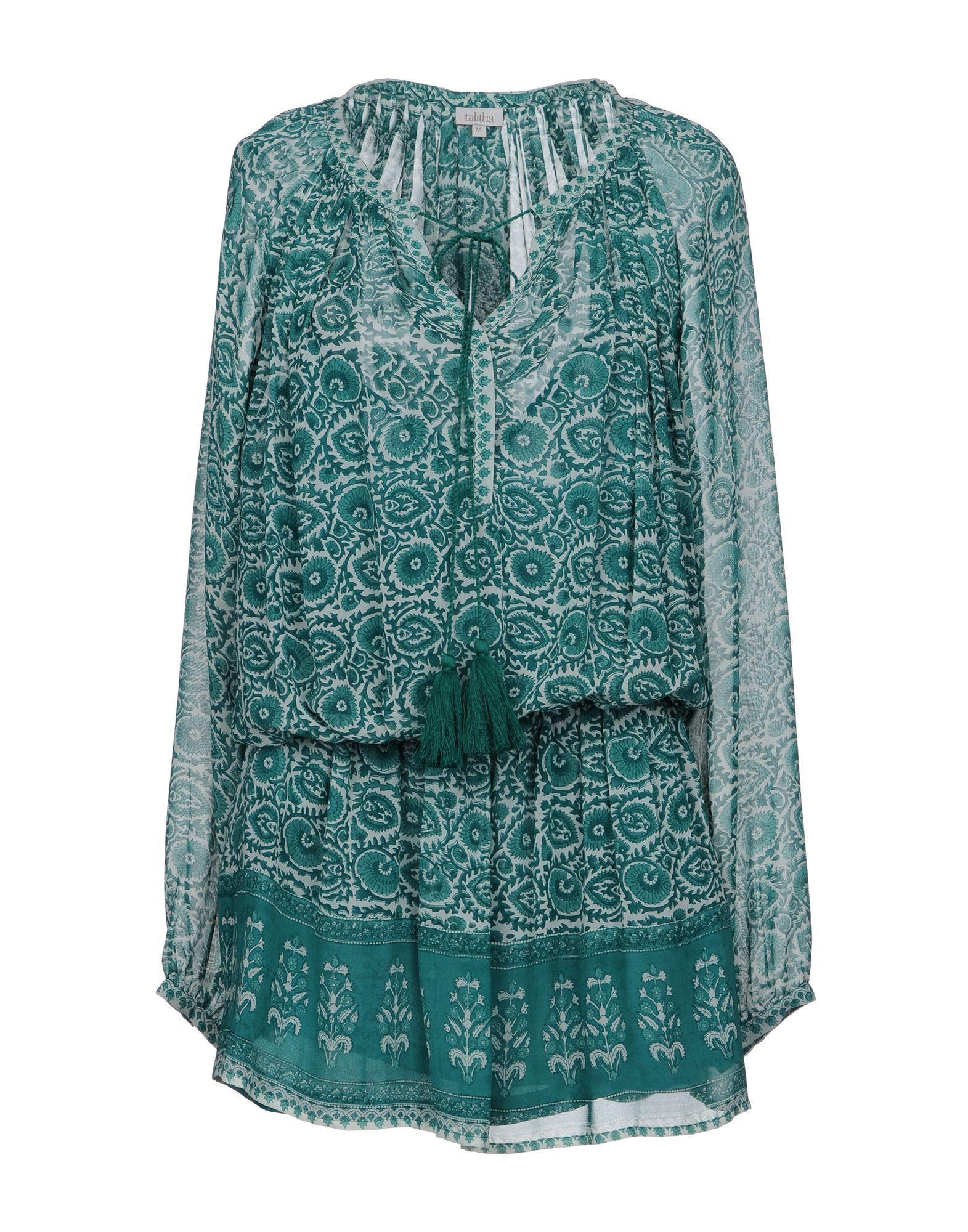 Talitha Shirt Dress In Green